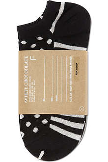 CHOCOOLATE I.T pack of three trainer socks