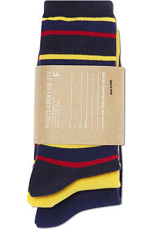 CHOCOOLATE I.T set of three striped socks