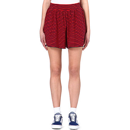 CHOCOOLATE I.T striped shorts (Red