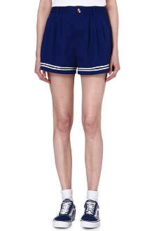 CHOCOOLATE I.T. Double-line cotton shorts