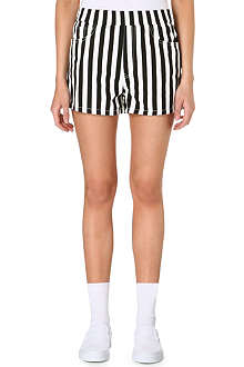 CHOCOOLATE Monochrome striped shorts
