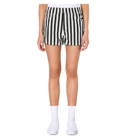 CHOCOOLATE Monochrome striped shorts (Black