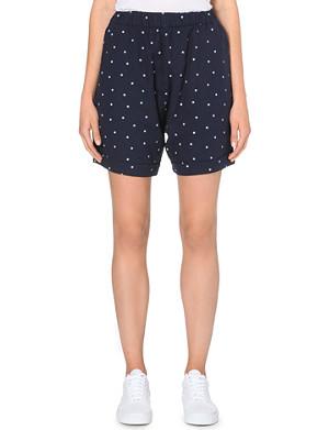 CHOCOOLATE Star print mid-rise shorts
