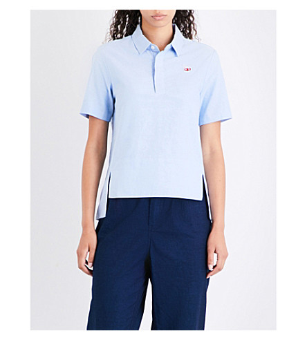 CHOCOOLATE Food-badge cotton polo shirt (Bll