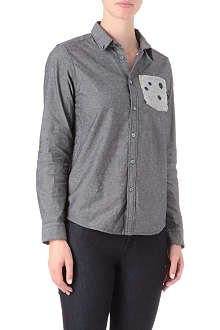 CHOCOOLATE I.T spot-panel shirt