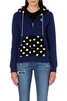 CHOCOOLATE I.T Polka-dot detail hoody