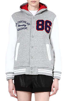 CHOCOOLATE I.T varsity hooded jacket