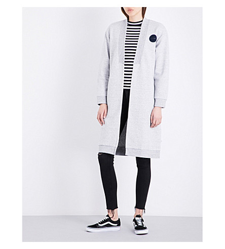 CHOCOOLATE Longline cotton-blend cardigan (Grey
