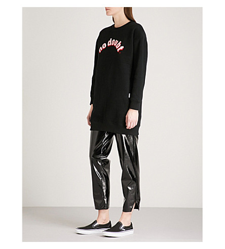 CHOCOOLATE No Doubt printed cotton-jersey sweatshirt (Black