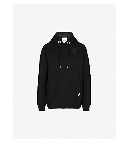 CHOCOOLATE Printed cotton-jersey hoody (Black