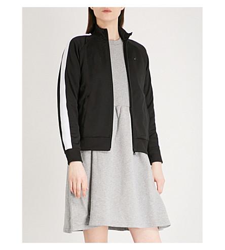 CHOCOOLATE Contrast-trim cotton-blend jacket (Black