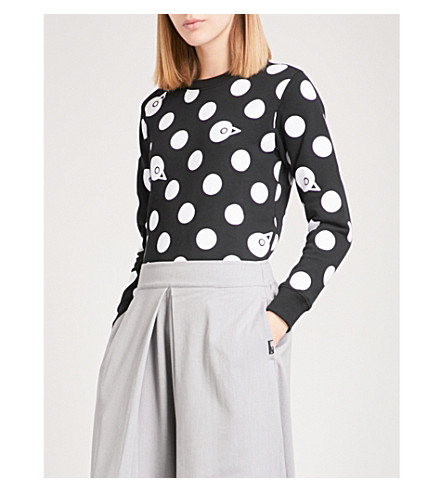 CHOCOOLATE Polka-dot cotton-jersey long-sleeved sweatshirt (Multi