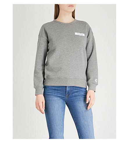 CHOCOOLATE Youth-patch cotton-jersey sweatshirt (Grey