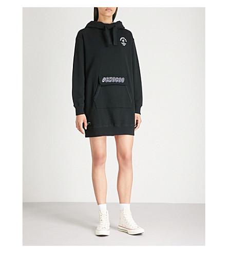 CHOCOOLATE Logo-print cotton-jersey hoody (Black