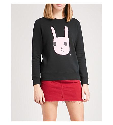 CHOCOOLATE Printed cotton-jersey sweatshirt (Black