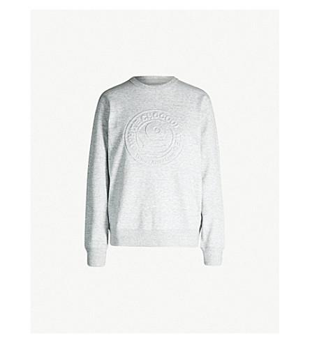 CHOCOOLATE Embossed-logo cotton-jersey sweatshirt (Grey