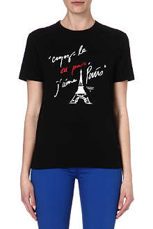CHOCOOLATE Eiffel tower text print