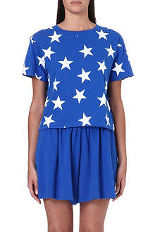 CHOCOOLATE I.T star-print cropped t-shirt