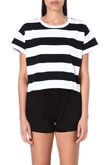 CHOCOOLATE I.T cropped striped t-shirt
