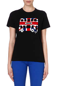 CHOCOOLATE London bus print cotton t-shirt