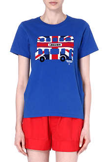 CHOCOOLATE I.T London bus print t-shirt