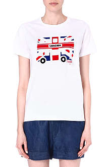 CHOCOOLATE London bus flag t-shirt