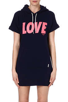 CHOCOOLATE I.T love print cotton hoody