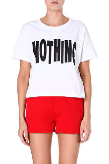 CHOCOOLATE I.T. Nothing cropped t-shirt