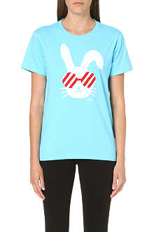 CHOCOOLATE Bunny print cotton t-shirt