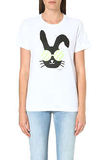 CHOCOOLATE I.T Bunny-print cotton t-shirt