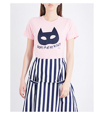 CHOCOOLATE Mask cotton-jersey T-shirt (Pink