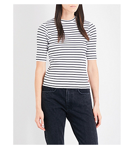 CHOCOOLATE Striped knitted top (Whx