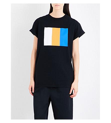 CHOCOOLATE Colour-block cotton T-shirt (Bkx