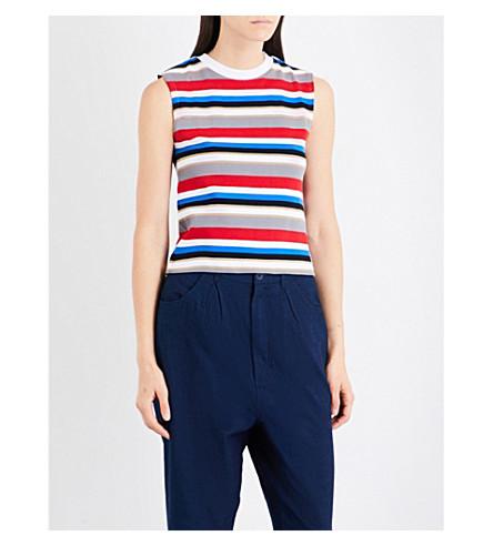 CHOCOOLATE Stripe-print jersey vest top (Gya