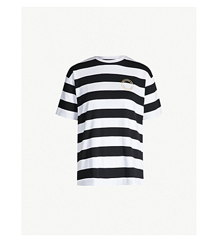 CHOCOOLATE Striped logo-embroidered cotton T-shirt (Multi