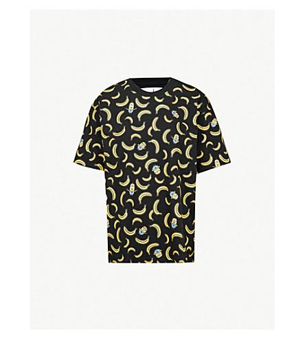 CHOCOOLATE Minion banana-print cotton-jersey T-shirt (Black