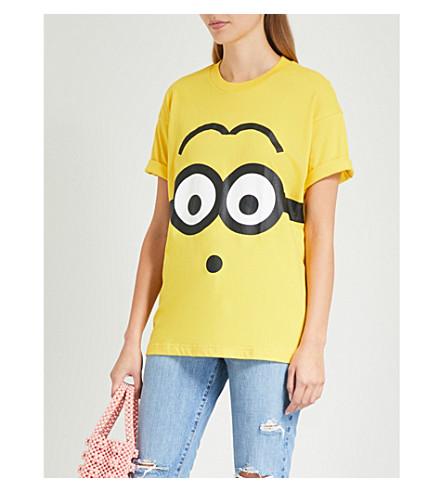CHOCOOLATE Minion-print cotton-jersey T-shirt (Yellow