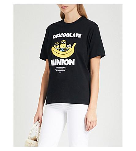 CHOCOOLATE Minion-print cotton-jersey T-shirt (Black