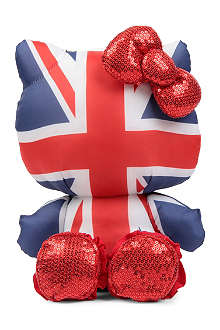B+AB I.T Hello Kitty Union Jack plush toy