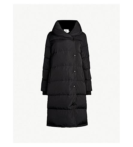 B+AB Longline shell puffer jacket (Black