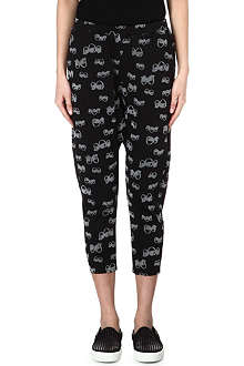 B+AB I.T eye-print jogging bottoms