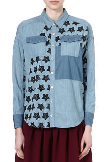 B+AB I.T Two-toned denim shirt