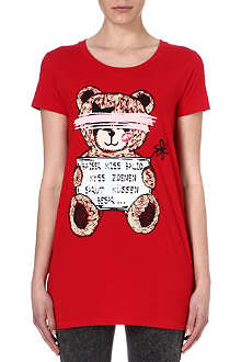 B+AB I.T teddy print cotton t-shirt