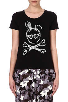 B+AB I.T cotton-blend bunny skull t-shirt