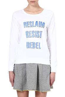 B+AB I.T Slogan-printed top