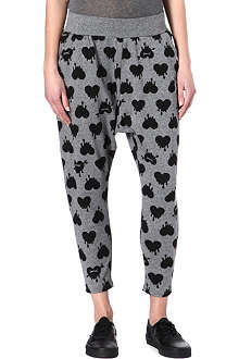 FINGERCROXX I.T bleeding heart harem trousers
