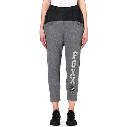FINGERCROXX I.T cotton-blend jogging bottoms (Black
