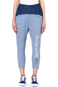FINGERCROXX I.T cotton-blend jogging bottoms