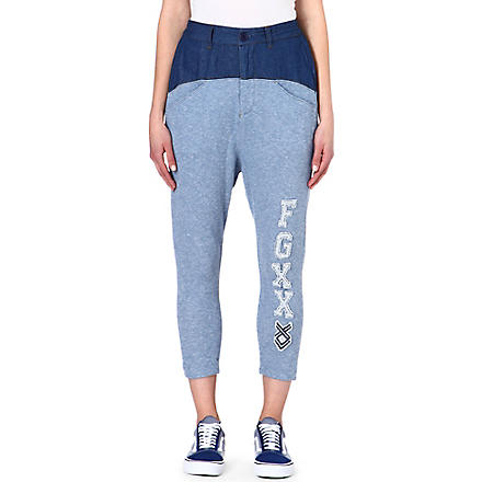 FINGERCROXX I.T cotton-blend jogging bottoms (Blue