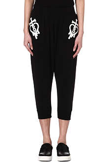 FINGERCROXX I.T Cropped jogging bottoms